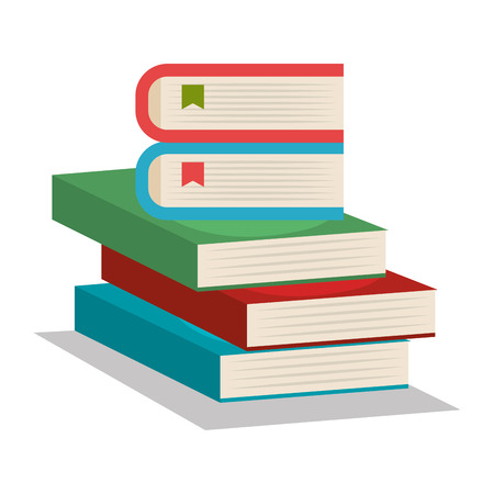 open magazine: text book school supply vector illustration design
