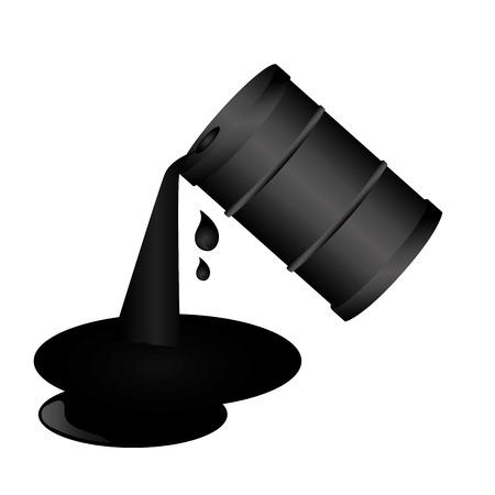 barril aceite aislado icono vector ilustración diseño