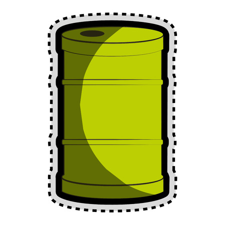 hazardous material: barrel green isolated icon vector illustration design