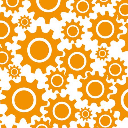 pattern with gear wheel icon mechanims vector illustration