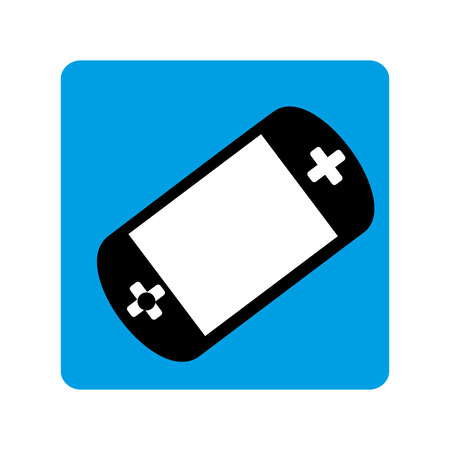 square border with tech videogame vector illustration