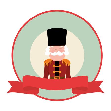 cute nutscraker toy icon vector illustration design Illustration