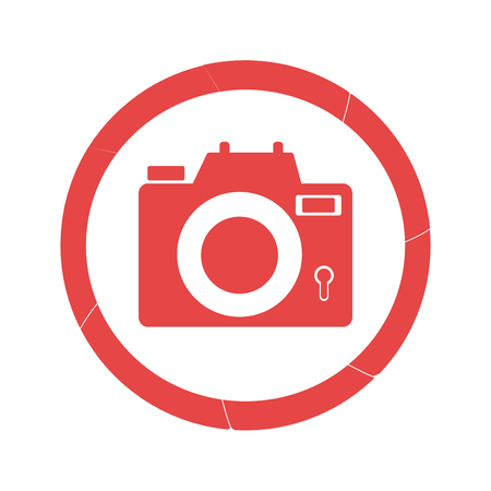 circular border with camera icon vector illustration Illustration