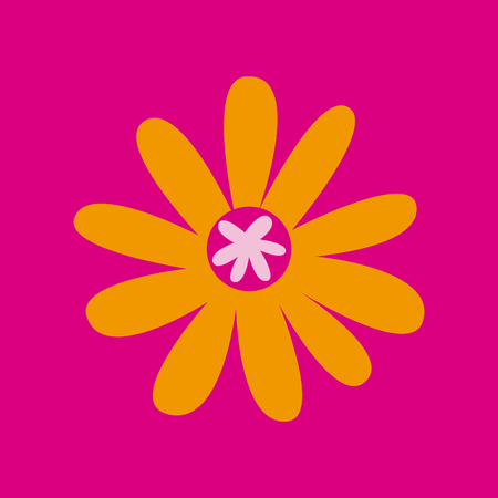Beautiful flower icon over pink background. colorful design. vector illustration Illustration