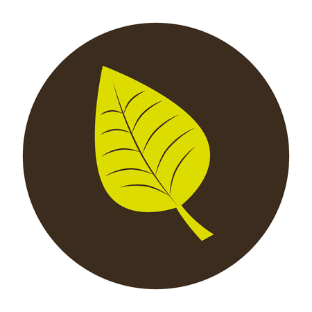 circular border with green leaves plant vector illustration Illustration