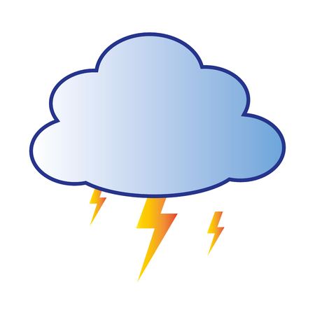 storm with cloud and thunder vector illustration Illustration