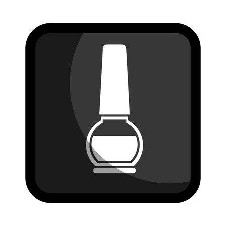 square button with enamel nail beauty products Illustration
