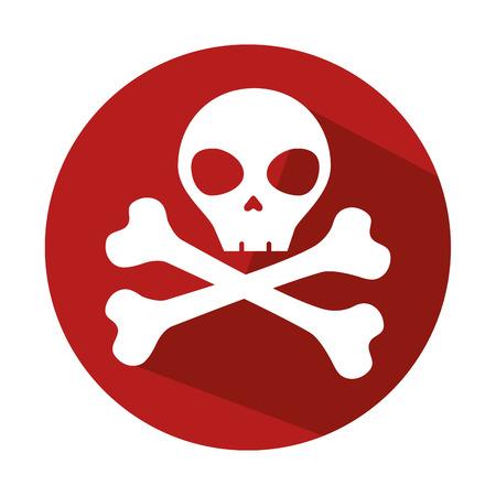 danger skull symbol icon vector illustration design
