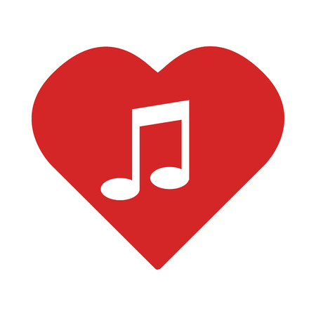 colorful heart: colorful Heart with musical note vector illustration