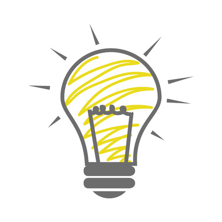 skecth: skecth of light bulb icon vector illustration Illustration