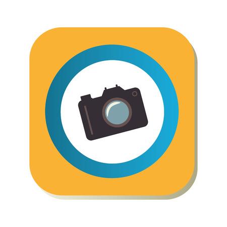 color square frame with analog camera vector illustration Illustration