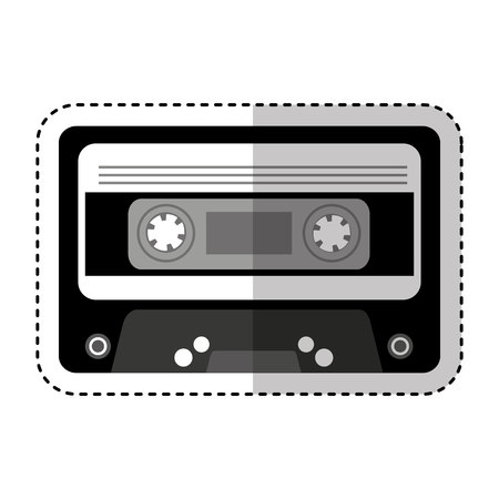 fashion design: cassette music old fashion vector illustration design Illustration
