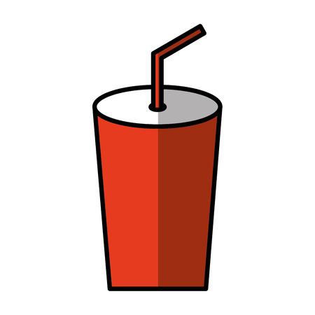 soda glass isolated icon vector illustration design Illustration