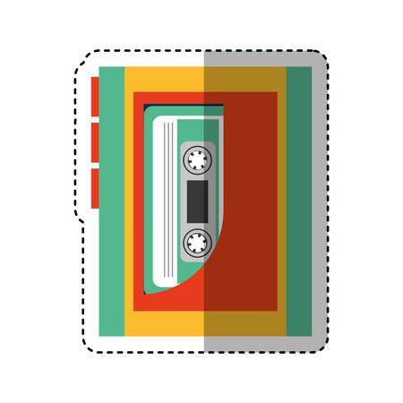 walkman: cassette music player old fashion vector illustration design Illustration