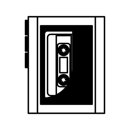 cassette music player old fashion vector illustration design Illustration