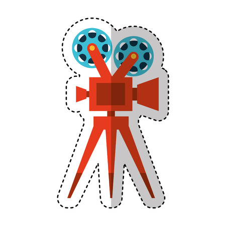 video camera film icon vector illustration design