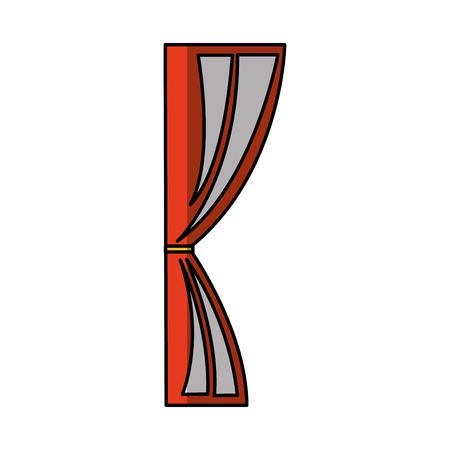 cinema courtain isolated icon vector illustration design