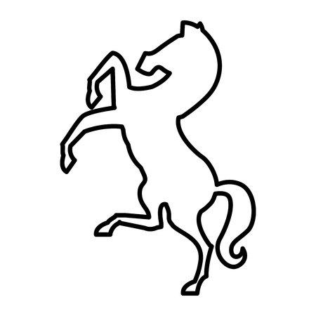 horse silhouette isolated icon vector illustration design Illustration