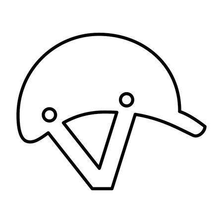 jockey helmet isolated icon vector illustration design Illustration