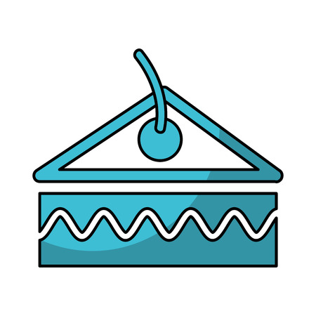 delicious cake portion isolated icon vector illustration design