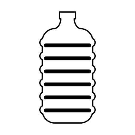 water cooler: water big bottle isolated icon vector illustration design Illustration
