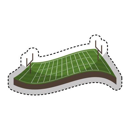 american football field icon vector illustration design
