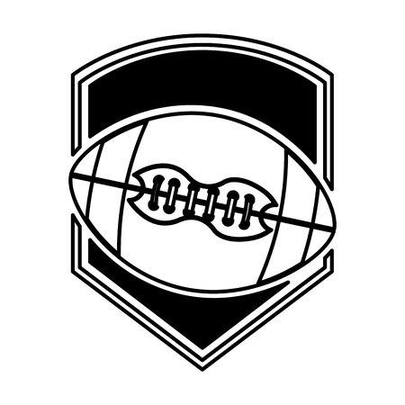 american football balloon emblem icon vector illustration design