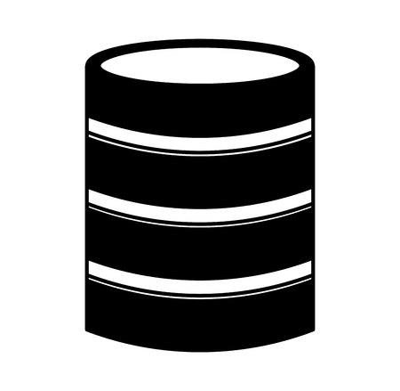 gigabyte: disk server isolated icon vector illustration design