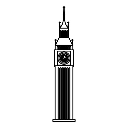 monument: big ben monument icon vector illustration design Illustration