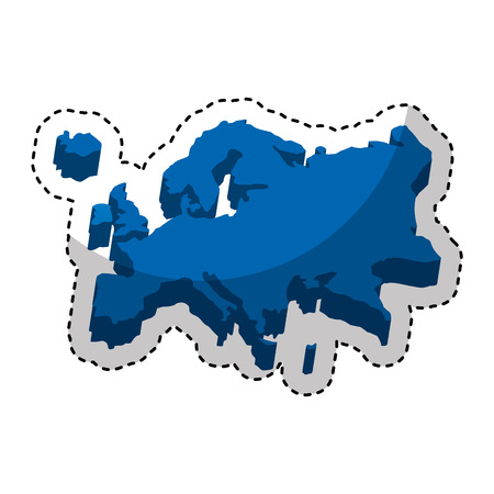 physical geography: europe map silhouette icon vector illustration design Illustration