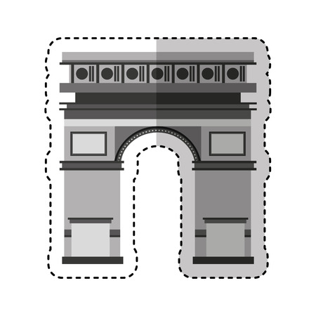 monument: triumph arch monument icon vector illustration design