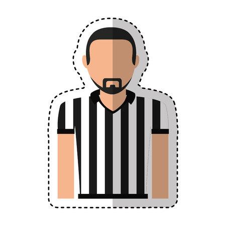 referee sport avatar character vector illustration design