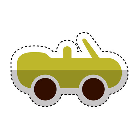 car covertible silhouette icon vector illustration design