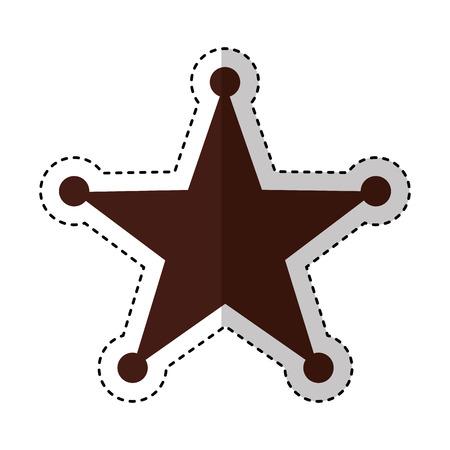 保安官星メダル アイコン ベクトル イラスト デザイン