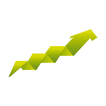 economic forecast: arrow growth isolated icon vector illustration design