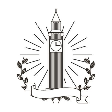 big ben monument icon vector illustration design Illustration