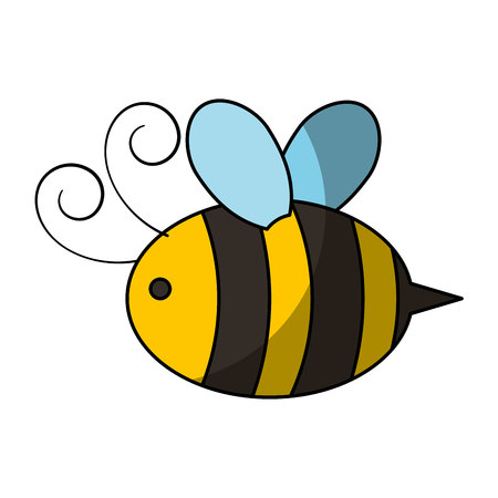 cute bee flying icon vector illustration design