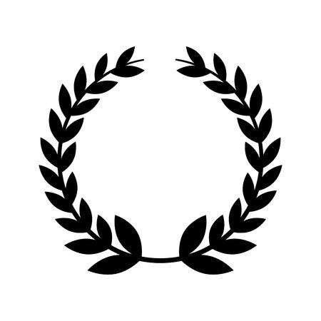 illustrazione vettoriale di illustrazione vettoriale corona emblema di foglie di corona