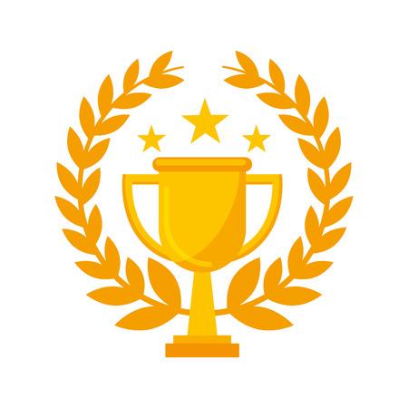 trofeo premio aislado icono vector ilustración diseño