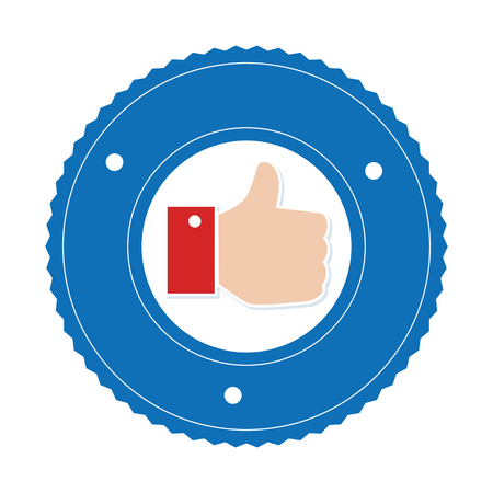 confirm: hand like isolated icon vector illustration design