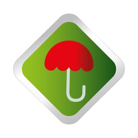 umbrella protection symbol icon vector illustration design Illustration