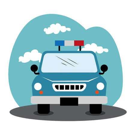 police patrol isolated icon vector illustration design