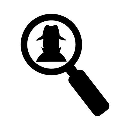 avatar espía icono aislado diseño de ilustración vectorial