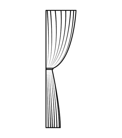 courtain: cinema courtain isolated icon vector illustration design