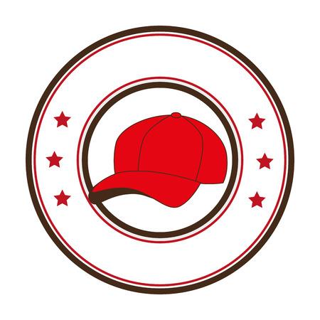 baseball sport hat emblem icon vector illustration design