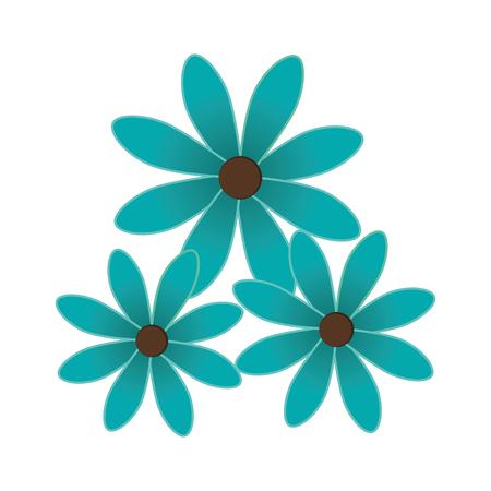 springtime background: cute flower decoration icon vector illustration design