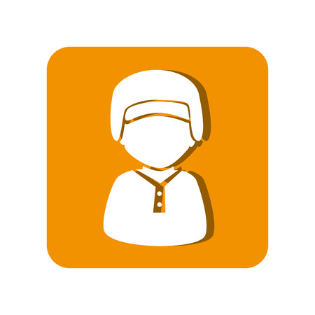 baseball sport player character emblem icon vector illustration design Illustration