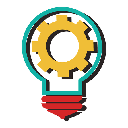 bulb light isolated icon vector illustration design Vectores