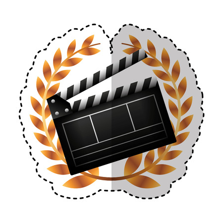 video clapperboard isolated icon vector illustration design Illustration