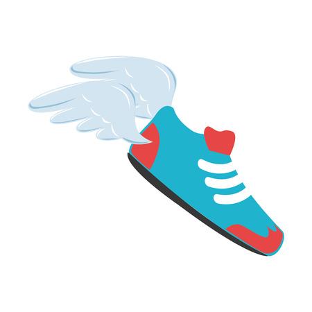 baseball shoes sport emblem icon vector illustration design